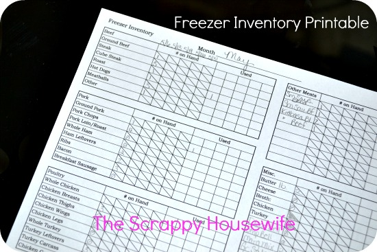 Using a Freezer Inventory (Free Printable!) - The Message in the Mess