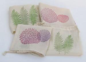 SALE: 4 Reusable Produce, Grocery, Bulk Food Bags / Lightweight Cotton drawstring / Set of 4