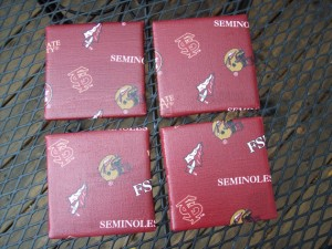 FREE Shipping - FSU Florida State Seminoles - 4 x 4 Tile Coaster - Set of 4