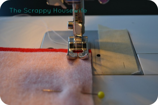 sew along your pinned straight edge removing pins as you go remember to give yourself a 14u2033 seam allowance