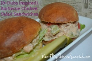 Barbeque Chicken Salad Sandwiches