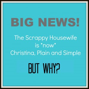 Why Christina Plain and Simple Announcement