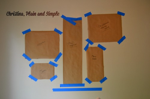 Kitchen Command Wall Template