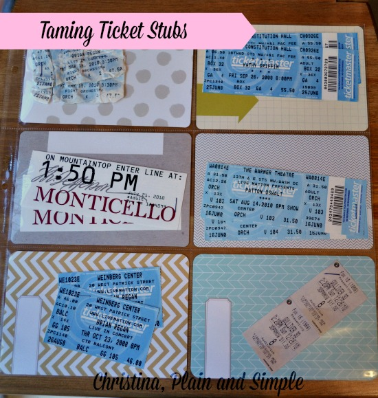 Taming Ticket Stubs