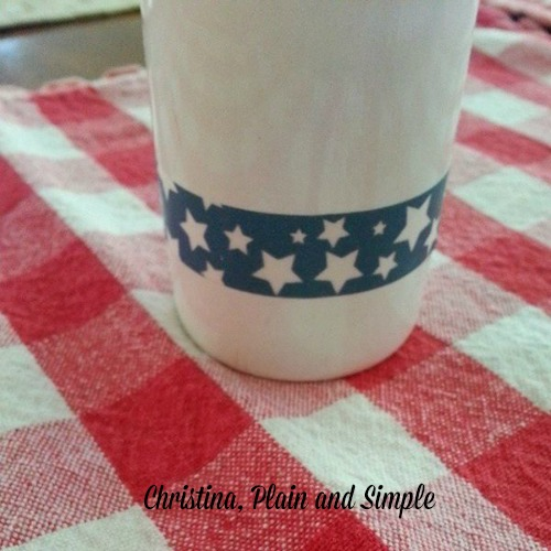 washi tape embellishment on milk bottle