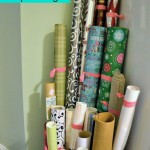 Gift Wrap Storage Ideas