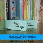 Easily Organize Your Cookbooks