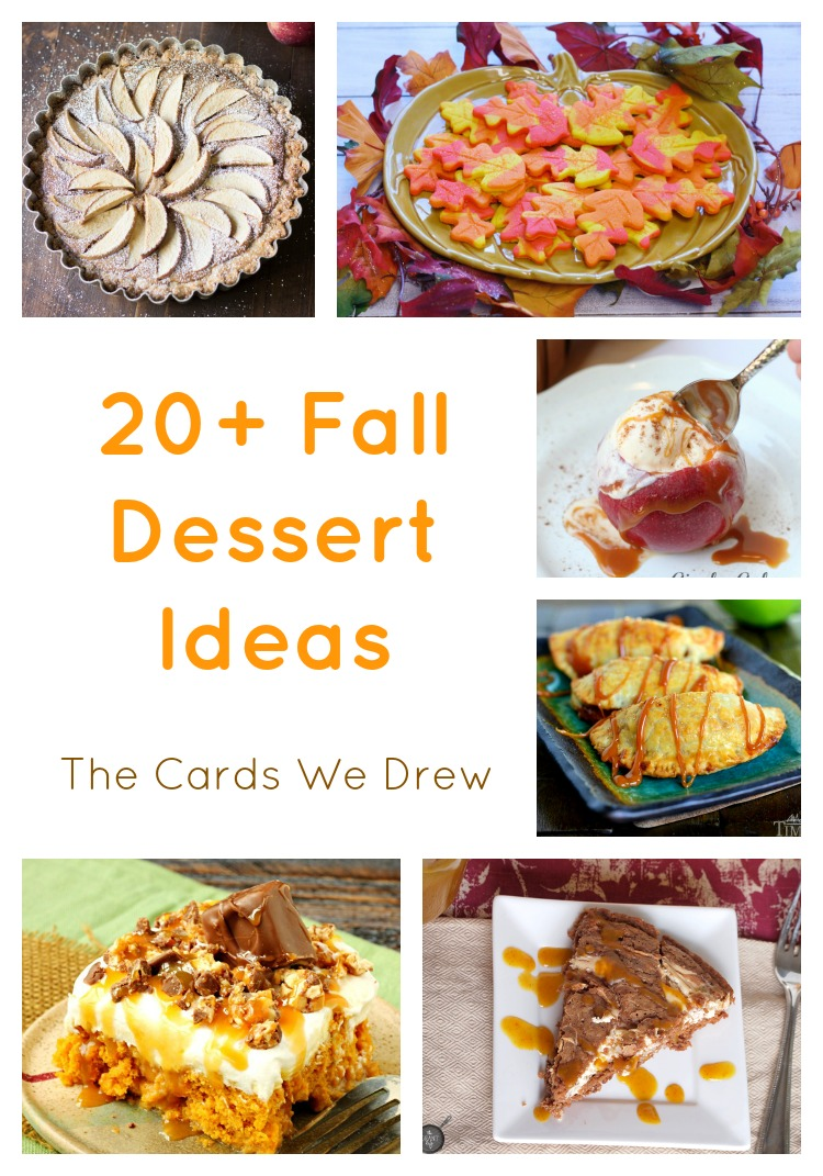 Fall Dessert Ideas Roundup Collage