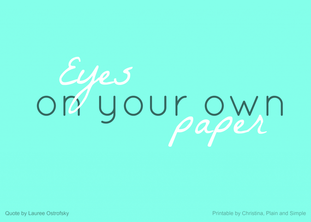 eyes on your own paper printable