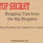 Top Secret Blogger Tip #6 – Round Ups