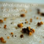 What crumbs are you leaving behind?