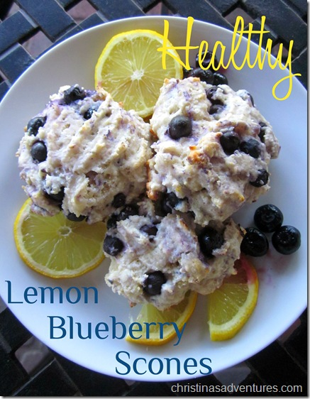 Healthy Lemon Blueberry Scones / Christina's Adventures