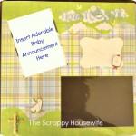 Scrap Saturday: A Scrapbook for a Baby Boy