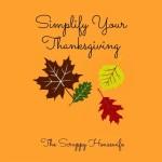 Simplifying Thanksgiving