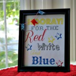 Easy Fourth of July Mini Garland and FREE Printable!
