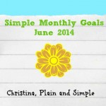 Simplified Goals for June