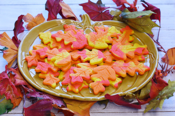 Fall Foliage Sugar Cookies