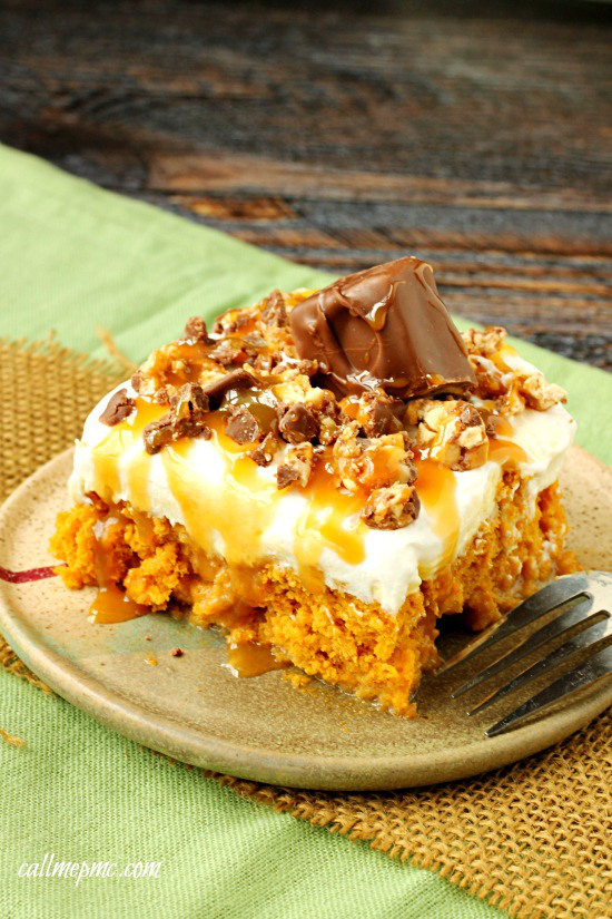 Skinny-Pumpkin-Snickers-Poke-Cake-with-Whipped-Cream-Frosting-wm