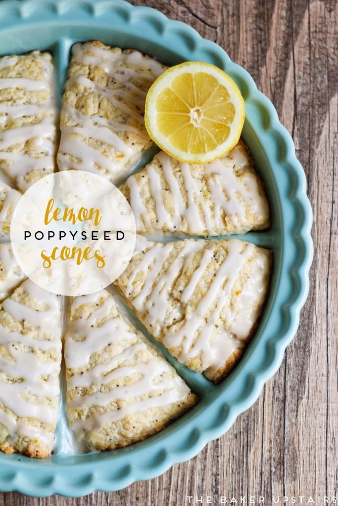Lemon Poppyseed Scones / The Baker Upstairs